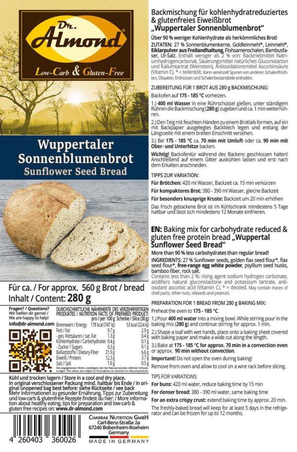 Wuppertaler_Sonnenblumenbrot-lowcarb-glutenfrei-Eiweissbrot-Backmischung-sojafrei