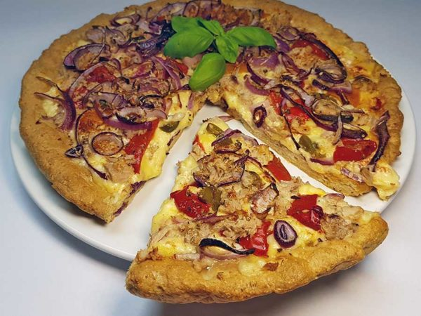 Pizza low-carb glutenfrei sojafrei superfood leinsamen pizzateig backmischung pizzamischung keto
