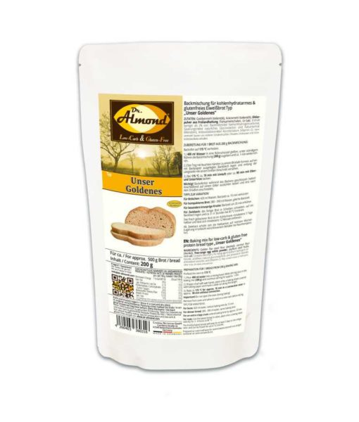 unser goldenes dr. almond glutenfreies Brot Eiweissbrot low carb