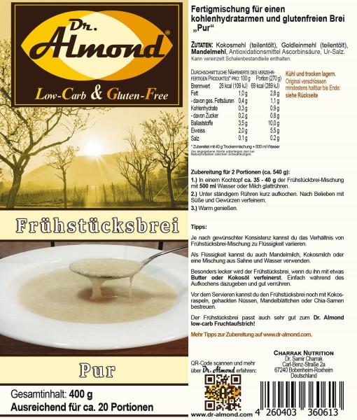 Frühstücksbrei low-carb glutenfrei Haferflocken