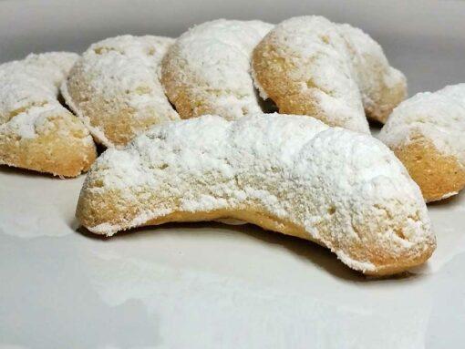 Weihnachtszauber Vanille Kipferl Vanillekipferl low-carb glutenfrei paleo sojafrei Weihnachtsplätzchen Weihnachtskekse