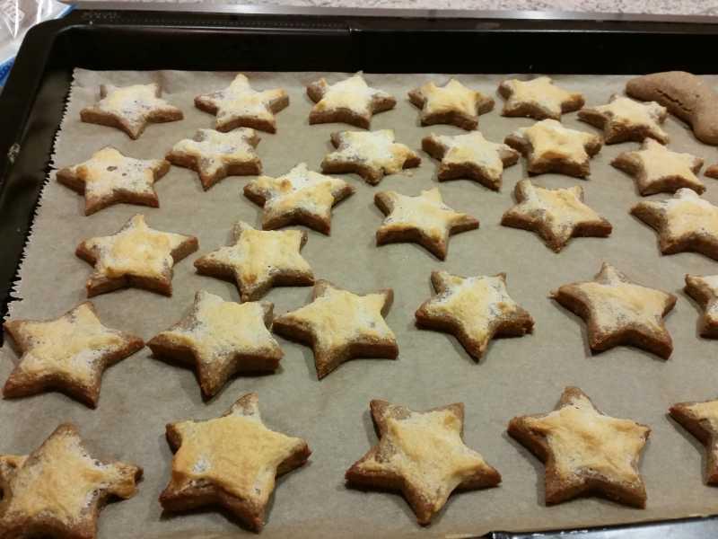 Weihnachtszauber Zimtsterne low-carb glutenfrei paleo sojafrei Weihnachtsplätzchen Weihnachtskekse