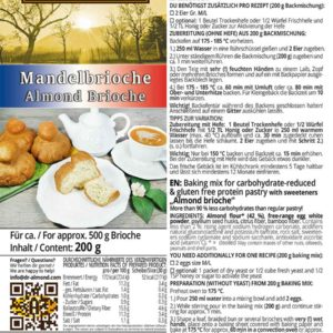 Mandelbrioche-low-carb glutenfrei Backmischung Brioche