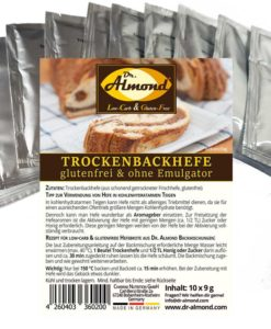 Trockenbackhefe Trockenhefe Backhefe glutenfrei low-carb Hefebrot Hefegebäck