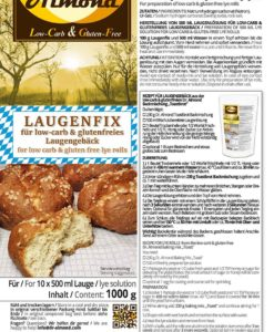 Laugenfix lauge natrofür low carb glutenfreies Laugengebäck Laugenbrezel