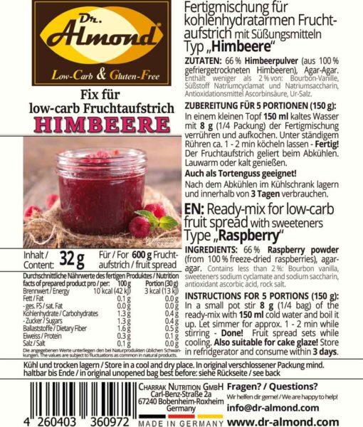 low-carb Fruchtaufstrich Marmelade