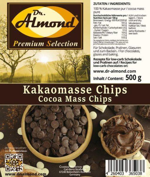 Kakaomasse low carb Schokolade