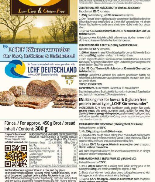 LCHF Knäckebrot Körnerwunder low carb glutenfrei sojafrei keto paleo Eiweissbrot Skaldeman