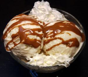 Karamel-Eis Karamell Mandel-Karamell low-carb Eiscreme Protein-Eis Proteineis