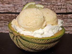 Melonen-Eis Canteloupe zuckermelone low-carb Eiscreme Protein-Eis Proteineis