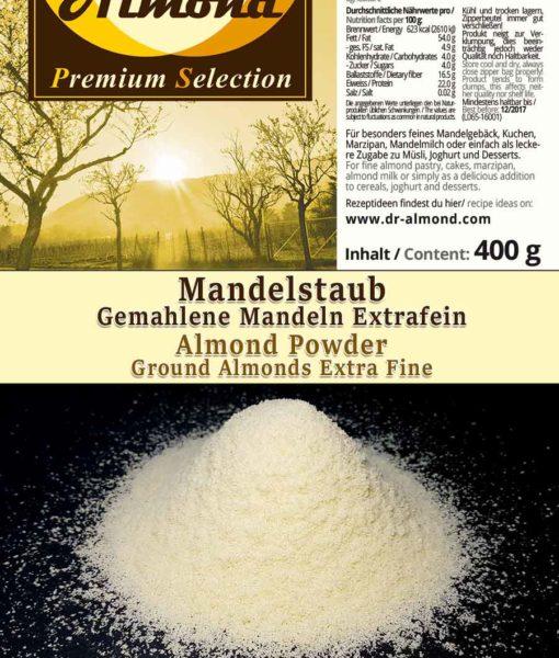 Mandelstaub extrafein low-carb backen glutenfreies Mehl Marzipan Mandelmilch