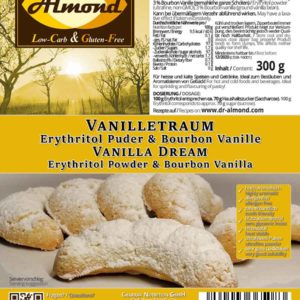 Erythritol Erythrit zuckerersatz xucker light no sugar serapur Puder Puderzucker Vanilla Sweet Vanillezucker