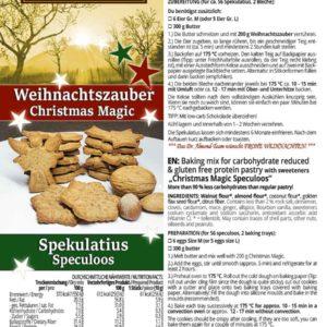 Weihnachtszauber Backmischung Weihnachtskekse Plaetzchen low carb glutenfrei zuckerfrei Lebkuchen Makronen Spekulatius Vanillekipferl Zimtsterne