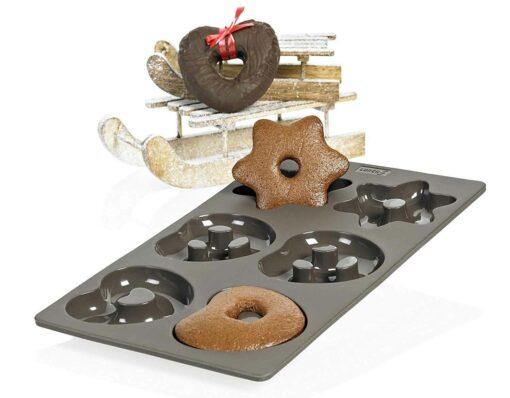lebkuchen lurch flexiform herzen brezeln sterne weihnachten silikonbackform keksform