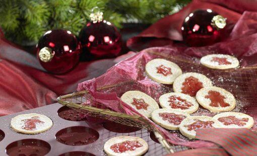 linzer weihnachtstaler taler lurch flexiiform keksform silikonbackform weihnachen