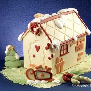 Silikomart HSH01 Home Sweet Home Lebkuchenhaus Silkonform Weihnachten 2er Set 180x115x160 mm