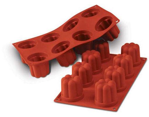 Silikomart SF051 Bavarese Silikonform Backform für 8 Mini-Kuchen Guglhupf