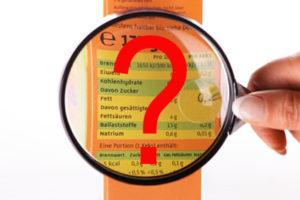 Nährwerte Lebensmittel Kalorien Kohlenhydrattabellen Zählen Analysen Fatscret FDDB Etiketten