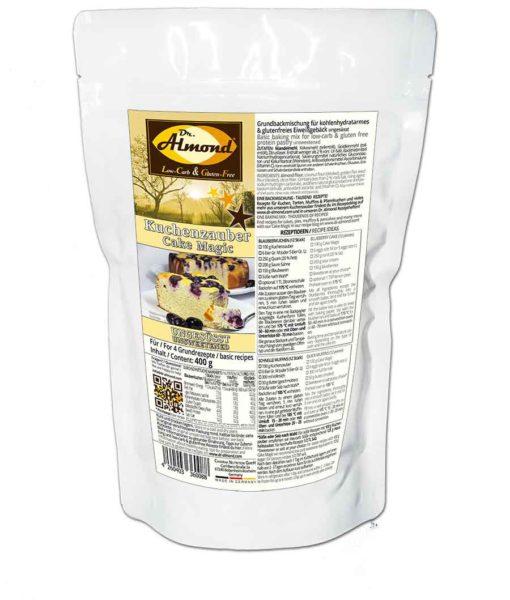 KUCHENZAUBER ungesüsst - Backmischung für Kuchen, Muffins, Pfannkuchen und mehr - low-carb, glutenfrei, sojafrei, keto paleo Kuchenmix