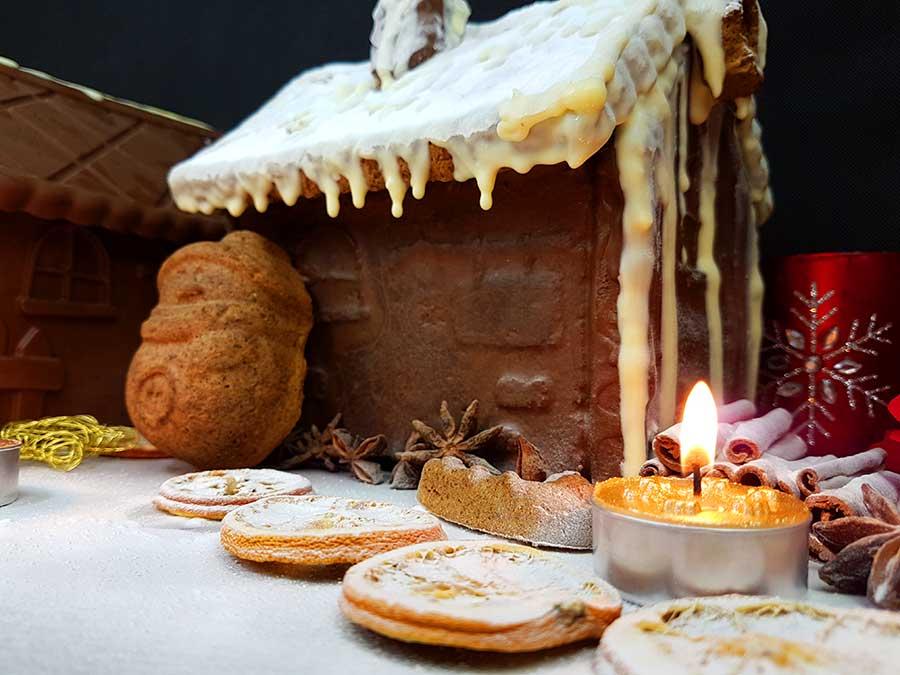 Rezept low carb glutenfreies Lebkuchenhaus