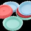 Lurch Flexiform Tortelett 6er Set Pastel Mix Silikonform für kleine Törtchen