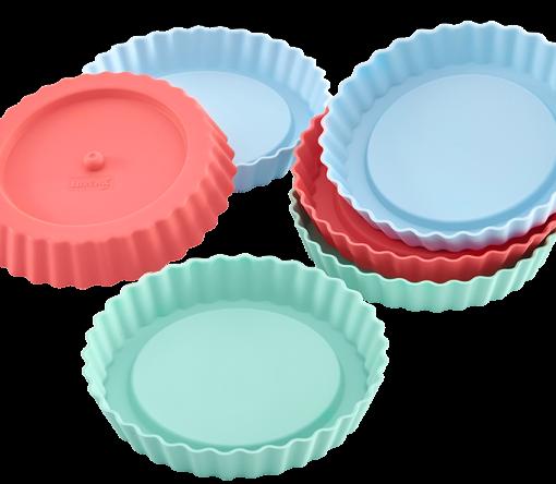174-00 Lurch Flexiform Tortelett 6er Set Pastel Mix Silikonform für kleine Törtchen