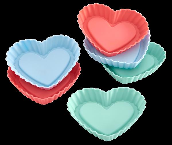 Lurch Flexiform Tortelett Herz 6er Set Pastel Mix für kleine herzförmige Törtchen
