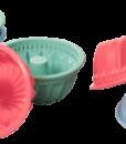 Lurch Flexiform Muffinliner Gugelhupf 6er Set Pastel Mix Silikonform für Mini Kuchen