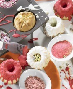 177-00 Lurch Flexiform Flexiform Gugelhupf Mini 6fach braun für niedliche Mini-Kuchen