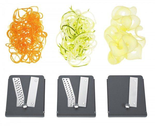 Lurch Spiralschneider für low carb Nudeln und Spaghetti aus Gemüse Spiralnudeln Gemüsenudeln