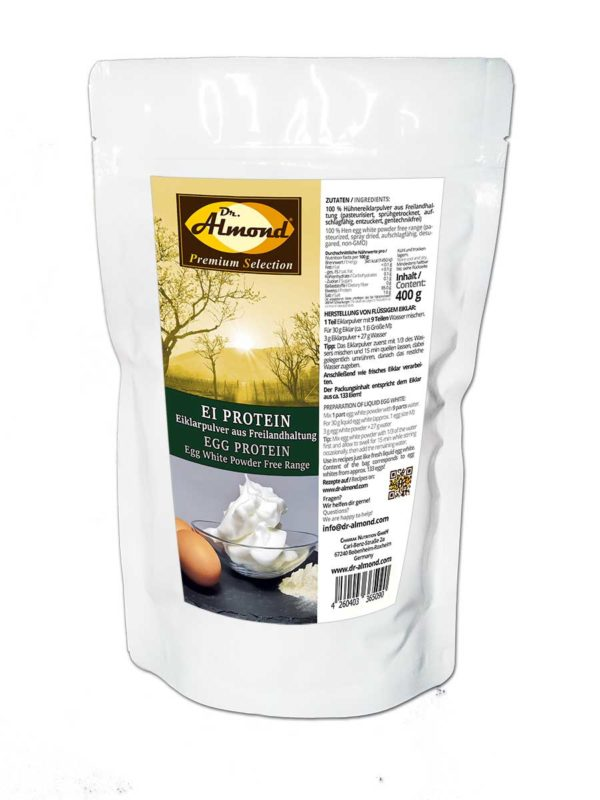 EI PROTEIN Eiklarpulver aus Freilandhaltung Aufschlagfähig, Geschmacksneutral, zum Backen und für Shakes