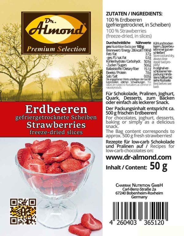 512_Erdbeerscheiben gefriergetrocknete Erdbeeren low carb Snack