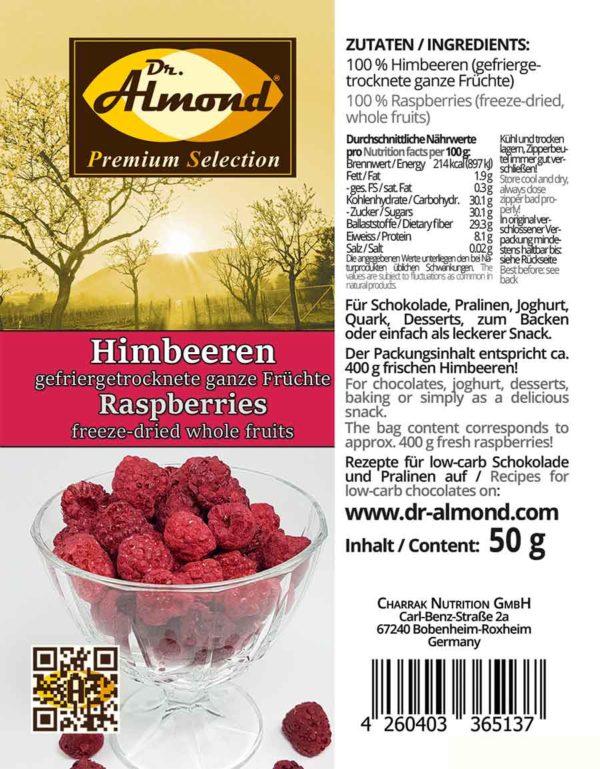 513_Himbeeren-ganz_gefriergetrocknete low carb Snack
