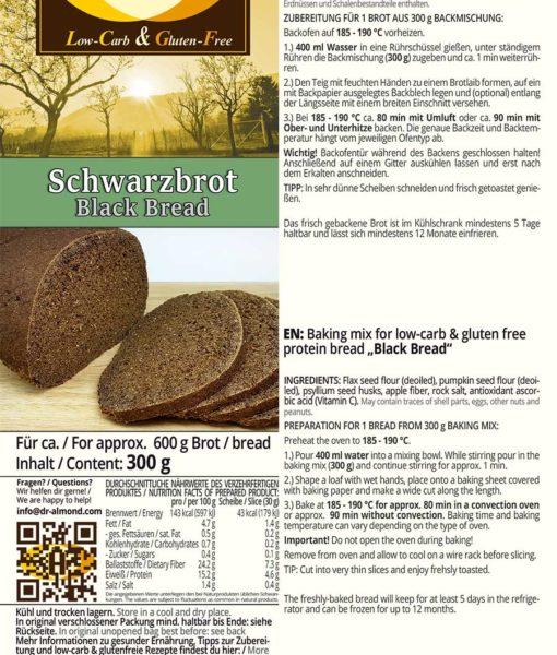 011_Schwarzbrot low carb glutenfrei VEGAN Backmischung Pumpernickel