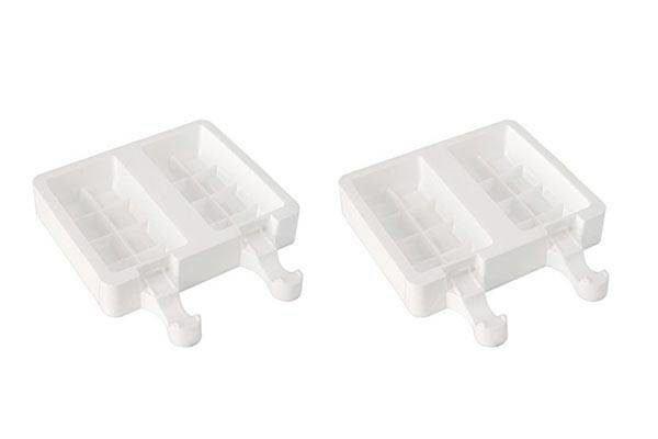 Silikomart SET GEL02 Chocostick Silikonform für Eis am Stiel 2er Set inkl. 50 Stiele
