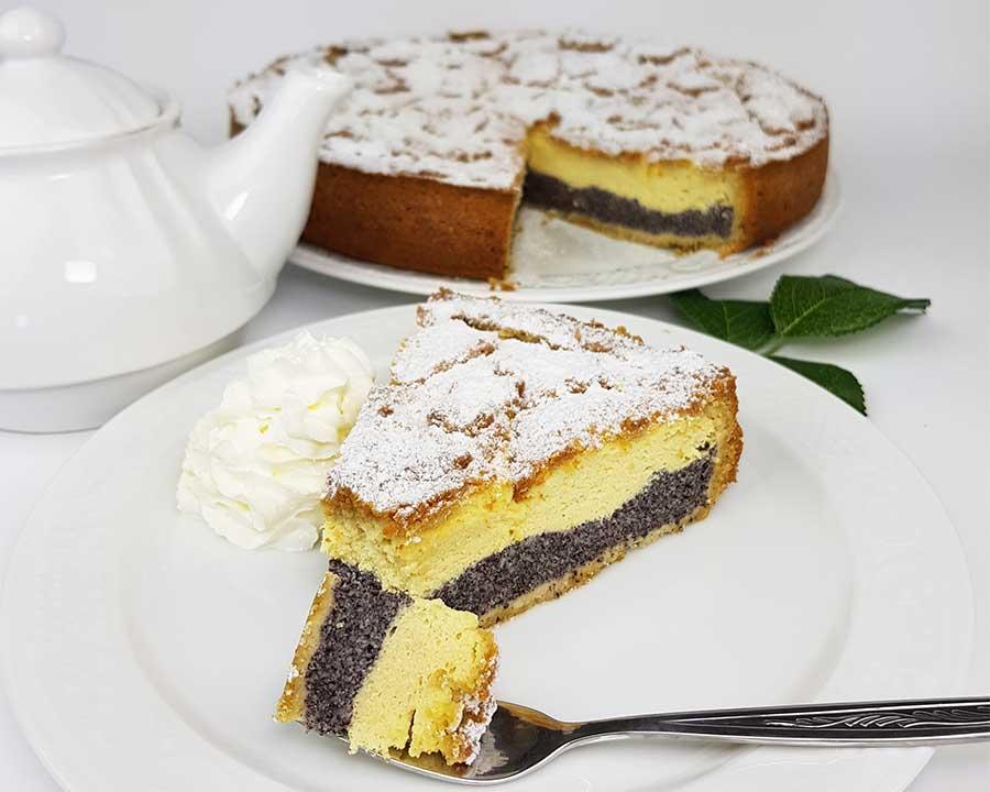 Rezept Gedeckter Mohn-Käsekuchen mit keksigem Butter-Mandel ...
