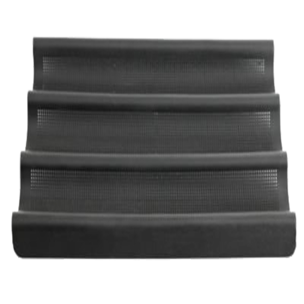 Lurch Flexiform Baguetteform 36x28,5cm 3fach braun mit feinmaschiger Netzstruktur