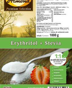 Erythritol + Stevia kalorienfreier low carb Zuckerersatz Erythrit extra fein 1:1 so süß wie Zucker 1000 kg