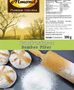 Bambusfaser Ballaststoffmehl low carb glutenfrei - Kartoffelfaser-Ersatz mit 0 % Kohlenhydraten - Zum Backen, Bemehlen & Ausrollen