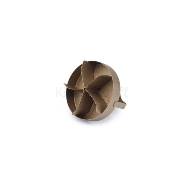 KitchenCraft-STERN-Brötchenstempel-Edelstahl-Gold