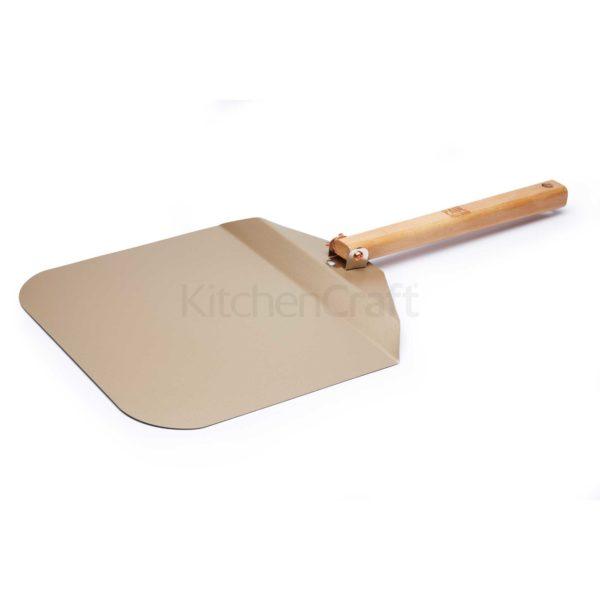 KitchenCraft XXL Pizzaschaufel mit Klappgriff Antihaft 34 cm