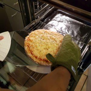 Rezept Steinofenpizza low carb glutenfrei Pizza vom Stein selbstgemacht mit Bambusfaser 53