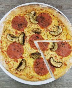 Rezept Steinofenpizza low carb glutenfrei Pizza vom Stein selbstgemacht mit Bambusfaser lecker14