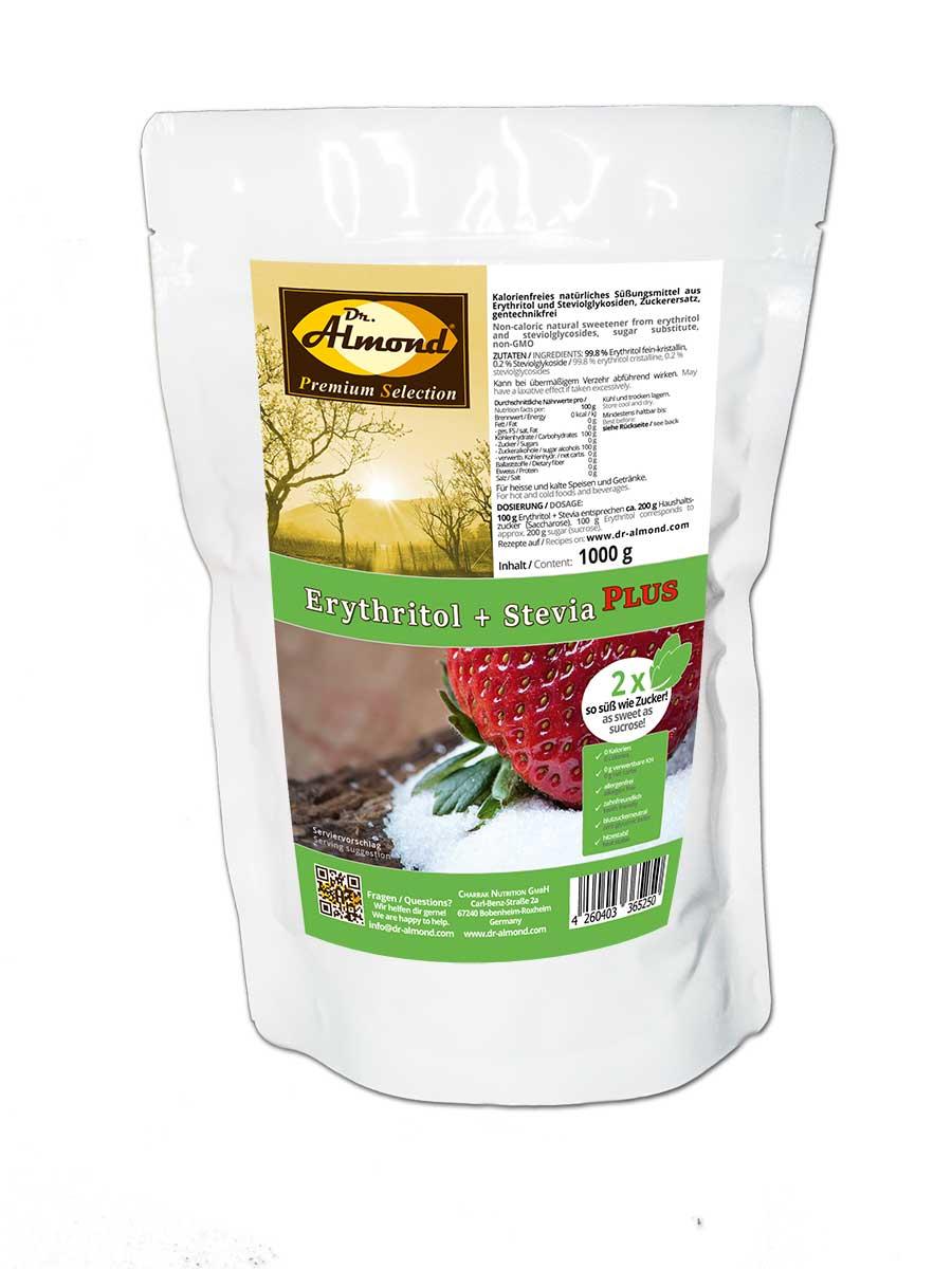 Erythritol + Stevia PLUS kalorienfreier low carb Zuckerersatz ...