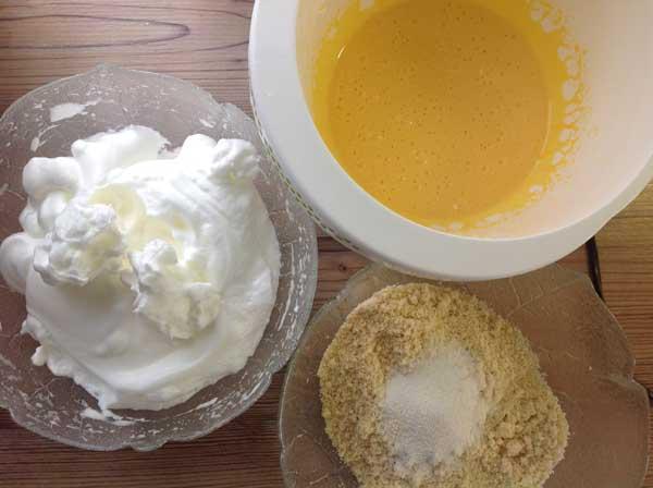 Grundrezept Biskuit lowcarb und glutenfrei - Mandelbiskuit