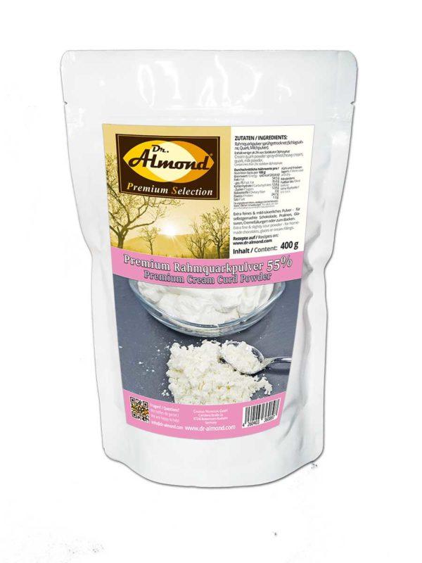 Premium Rahmquarkpulver 55 % aus Sahnequark - Der Frische-Kick für selbstgemachte low carb Schokolade & Pralinen wie Yoghurette