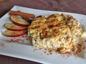 Rezept Milchreis low carb aus dem Ofen glutenfrei