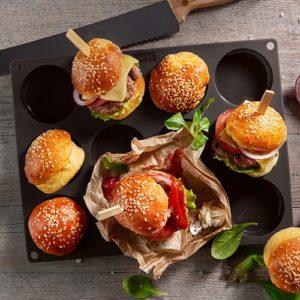 Flexiform BurgerBun Size S Ø6cm 12fach braun