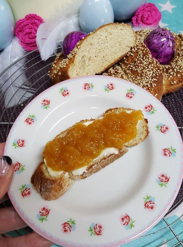 Rezept Tsoureki - einfacher griechischer Osterzopf lowcarb glutenfrei