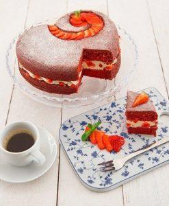 """Lurch Flexiform Herz Silikonform """"Back die Hälfte"""" für kleine Kuchen 19cm"""